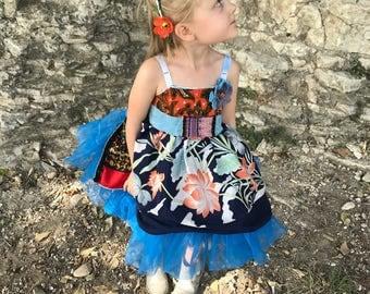 Rubypearl Girls' Blue Hawaii Dress