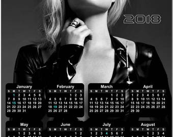 "Margot Robbie 2018 Full Year View 8"" Calendar - Magnet or Wall #3852"