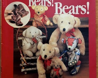 TEDDY BEAR Sewing Pattern Book Vintage DOVER Nancy Southerland-Holmes Teddies Bears