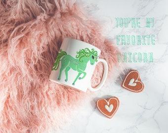 You're My Favorite Unicorn Mug, BFF Coffee Mugs, Unicorn Lover, BFF gifts for Women, Cute Unicorn Mug, Statement Mug,Best Gifts for BFF,Mint