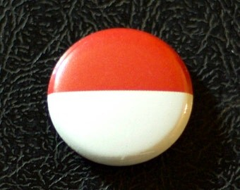 "1"" Indonesia flag button, country, pin, badge, pinback, Made in USA"