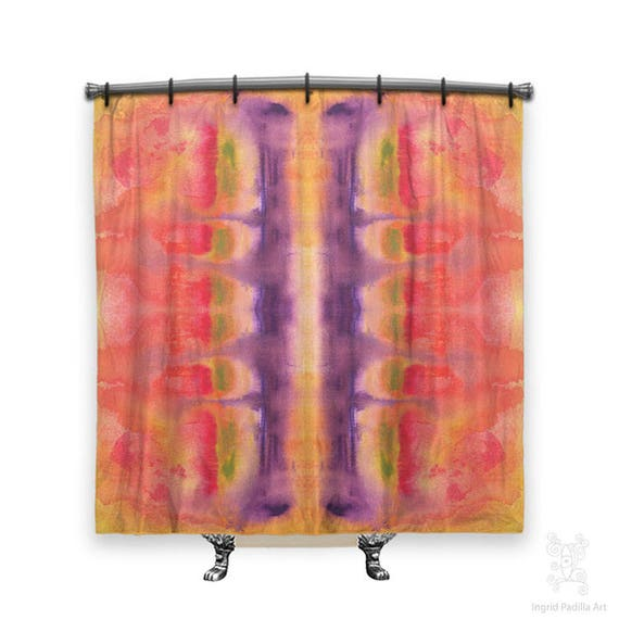 Artsy Shower Curtain, Shower Curtain, Abstract shower curtain, Fabric shower curtain, Bath Decor, Funky shower curtain, Shower curtain Art