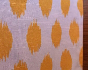 Designer Dog Crate Cover, Ikat Corn Yellow Cover, YOU Choose Fabric, Pet Crate Cover, Personalization & Grommets Extra