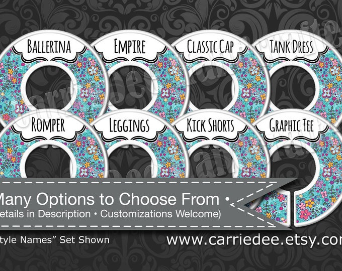 Dot Dot Smile Rack Dividers - Styles Dividers & Size Dividers Available - Fashion Consultant, Cute Garden Design, DotDotSmile dds