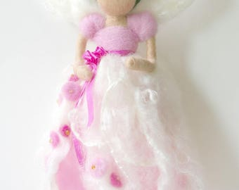 Sakura (Cherry Blossom) Flower Fairy: Waldorf Inspired Silk & Wool Fairy (Youth + Spring)