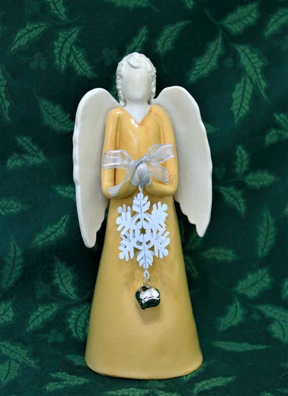 X-mas Angel - Angel Sculpture - Angel Decor- Angel Statue - Christmas Angel - Angel Holiday Decor - Guardian Angel - Holiday Mantel Decor