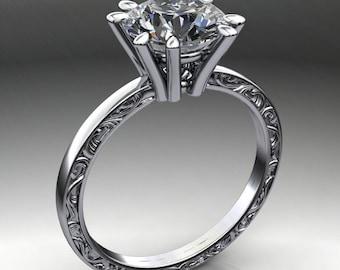 suri ring - 1.9 carat diamond cut round NEO moissanite ring, moissanite engagement ring