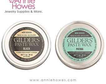 Gilders Paste Wax - Patina or Black. Choose Your Color.