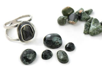Choose your own Michigan Greenstone Handmade Sterling Silver Ring