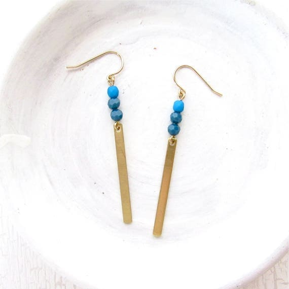 Reflection Earrings > Cobalt