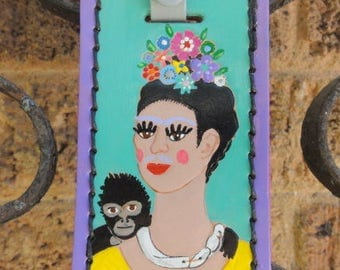 Luggage Tag with Frida Kahlo
