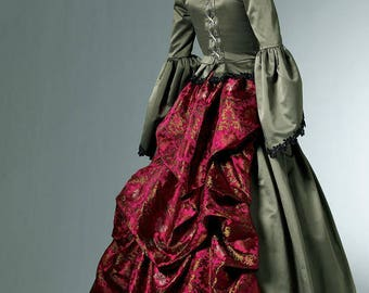 McCalls 6097-Steampunk Victorian Bustle Dress Pattern Size 6-12