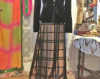 80s Metallic Copper Skirt Long Copper Skirt Formal Skirt Size 8