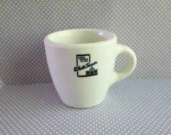 Vintage White Tower Diner Coffee Mug - Shenago China