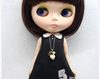 LADYBIRD HOUSE Blythe Outfit Black And White Dress With Necklace