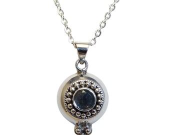 Sterling Silver Labradorite Gemstone Pendant, Labradorite Pendant, Sterling Silver Labradorite Pendant, Labradorite Necklace,  I3