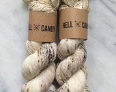 O.M.G.DOG! - hand dyed by Hellcandy superwash merino fingering single weight yarn