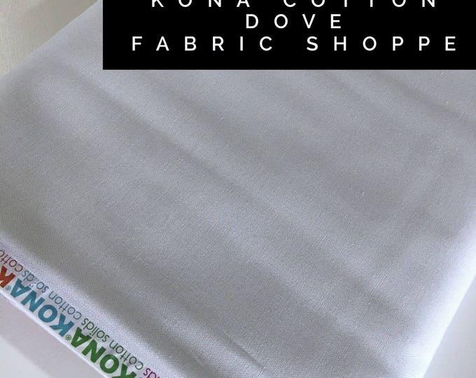Kona cotton solid quilt fabric, Kona DOVE 1839, Gray fabric, Solid fabric Yardage, Kaufman, Quilting Cotton fabric, Choose the cut