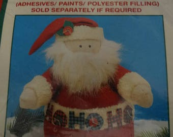 Homespun Creations, Santa Claus Craft Pattern, Bean Bag Santa, Folk Art Kris Kringle, Frosty Easy to Assemble, included, Bean Bag