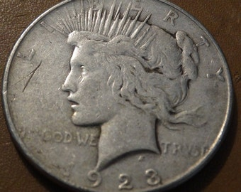 1923 Peace Silver Dollar (D) Coin antique coins for Jewelry Jeweler Numismatic Coinage Retro Americana Coinage 1920's Lot #35