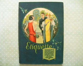 Antique 1925 Etiquette Booklet Flapper Era Formalities for Women
