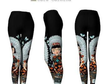 Leggings - Frida Papillon - Frida- Cara Carmina - Butterfly - black