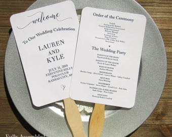 fan program for weddings
