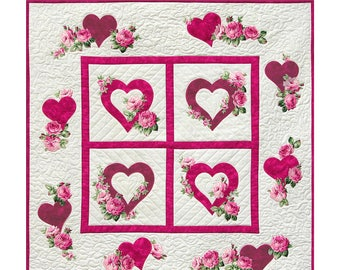 Hearts and Flowers Pattern Downloadable PDF