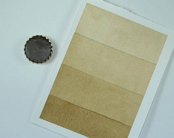 Full Pan or Large Cap - Driftwood Natural Umber, Anthesis Arts Artisanal Handcrafted Handmade Watercolor Paints, Choose Your Size