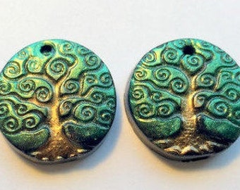 Yggdrasil Beads Tree of Life Polymer Clay Focal Beads