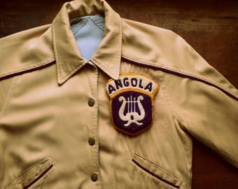 Vintage 1950s Angola High School Rayon Jacket | Indiana