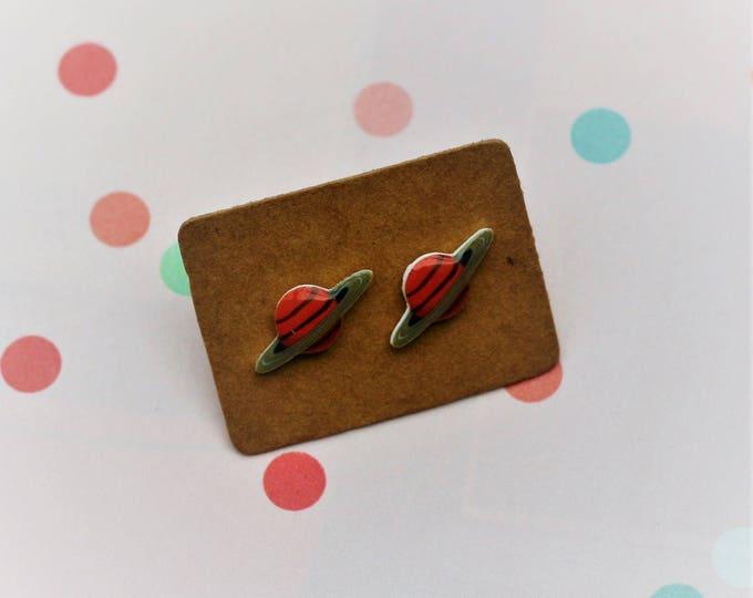 Planet Earrings, Teeny Tiny Earrings, Space Jewelry, Cute Earrings