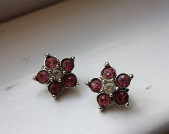 Bogoff Pink Five Petal Clip On Earrings