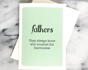 Father's Day card - Thanks Dad - humorous Father's Day - funny - fathers day present fathers day gift funny fathers day