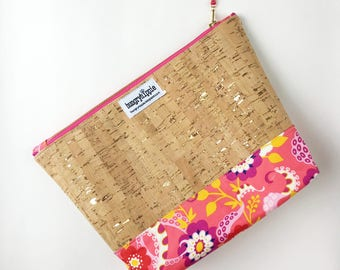 Gold flecked Cork Cosmetic Case