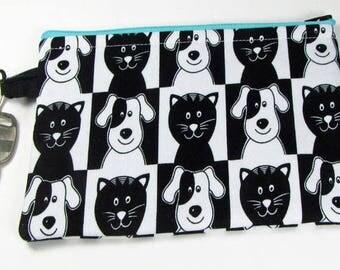 Funny Cats & Dogs, wristlet wallet, smartphone wristlet, wristlet for iphone, iphone wristlet case, cellphone wallet, wristlet keychain