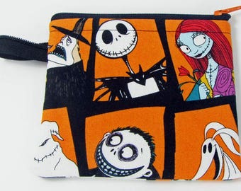 Nightmare Before Christmas, credit card case, change purse, business card holder, coin wallet, womens change purse, credit card wallet