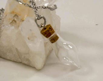 Glass Tear Cremation Urn Necklace || Ashes Keepsake Jewelry