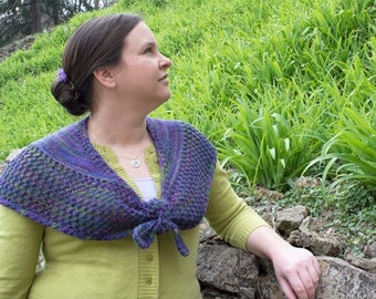 Queen's Shawlette Knitting Pattern - PDF