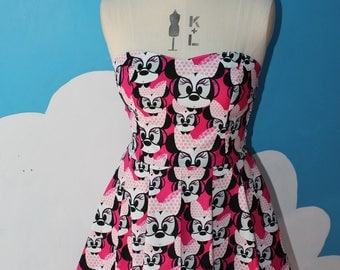 disney pink minnie mouse sweet heart dress - all sizes