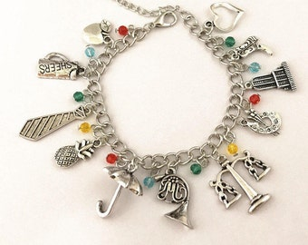 How I Met Your Mother Fun Themed Charm Bracelet Inspired Free Shipping