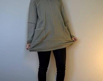 Hemp and Organic Cotton Fleece Sweatshirt - barrel pattern series
