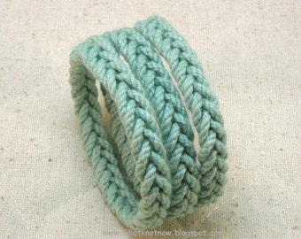 slender herringbone rope bracelets in teal blue cord sailor bracelet nautical rope bracelet