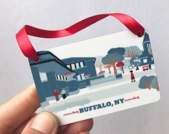 darwin martin house, buffalo ny, ornament, buffalo ny gifts, buffalo new york, parkside buffalo ny, buffalo ny gift