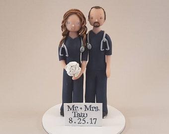 Customized Nurses Wedding Cake Topper