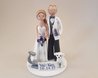Custom Handmade Scientist Wedding Cake Topper