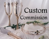 Custom Listing for a 5mm Wide 14K White and Rose Gold Flat Edge Two Tone Band