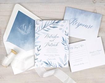 wedding invitations cards custom silhouettes by DevonDesignCo