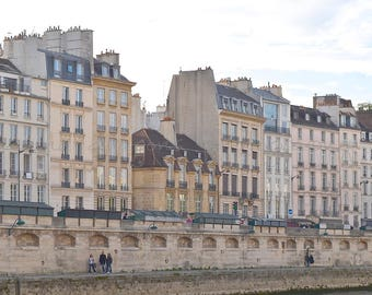 Paris Photography, La Rive Gauche & River Seine Paris Print, Left Bank Paris Architecture, Paris Wall Art Prints, Paris Fine Art Photography