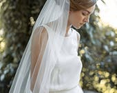 Fingertip Veil | Ivory Wedding Veil | Single Tier Veil | Simple Veil | Soft Tulle Veil | Single Layer Veil | Bridal Veil [Eloise Veil]